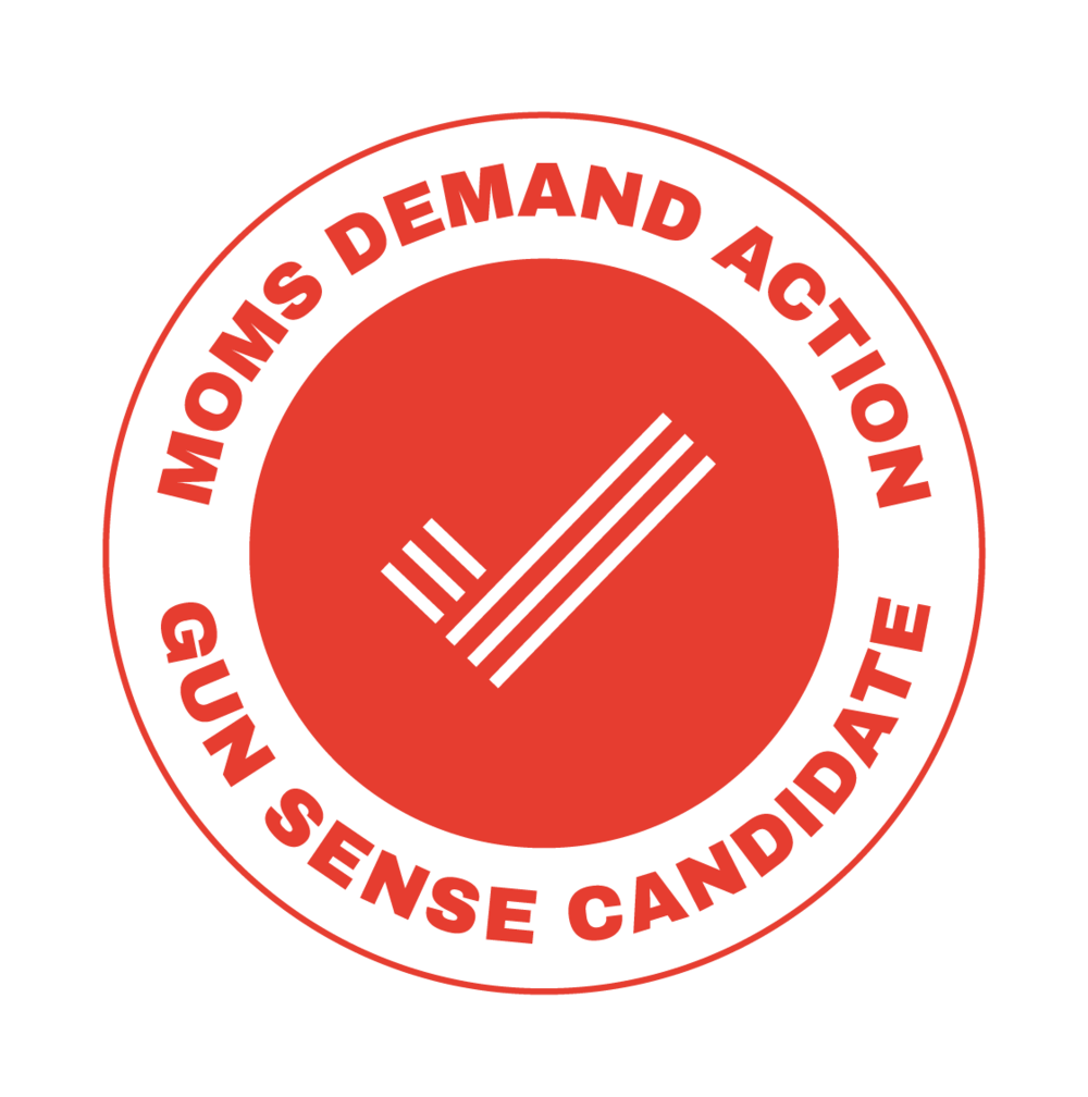Moms Demand Action for Gun Sense in America Gun Sense Candidate Distinction - Maryland made real progress this legislative session to strengthen common sense gun safety laws. Next year as your Senator, I will work to pass universal background checks and do more to ensure we keep guns out of the hands of children.