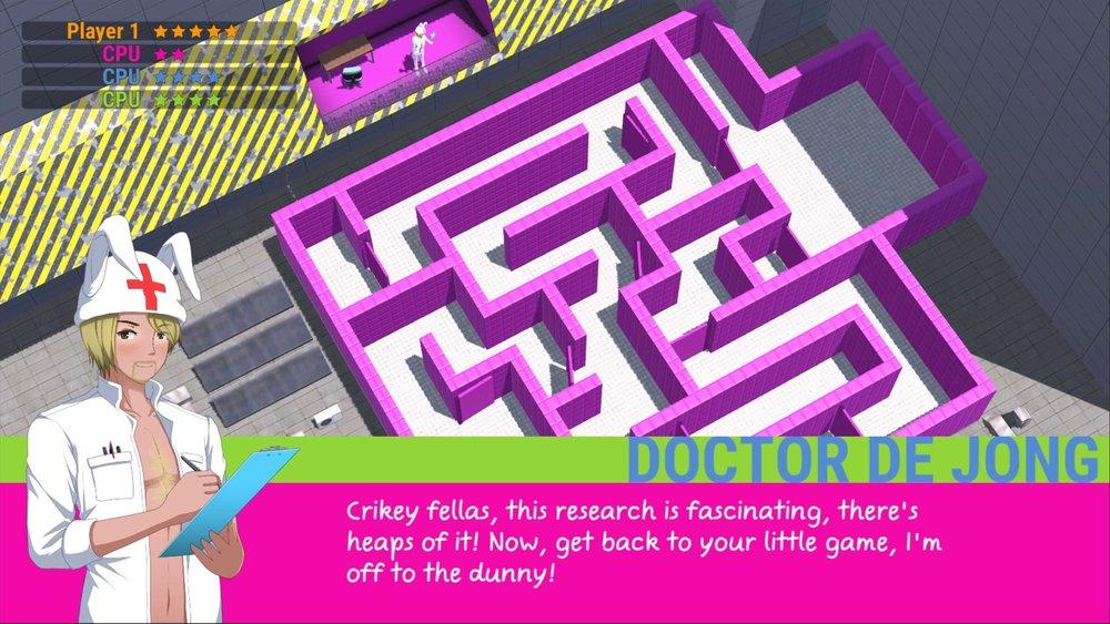 dr de jong maze mini game