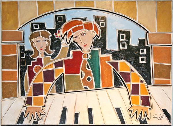 Polka Dot Piano Man SOLD