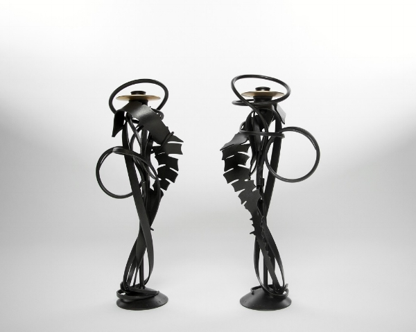 Albert Paley Double Shear Candleholders (1).jpg