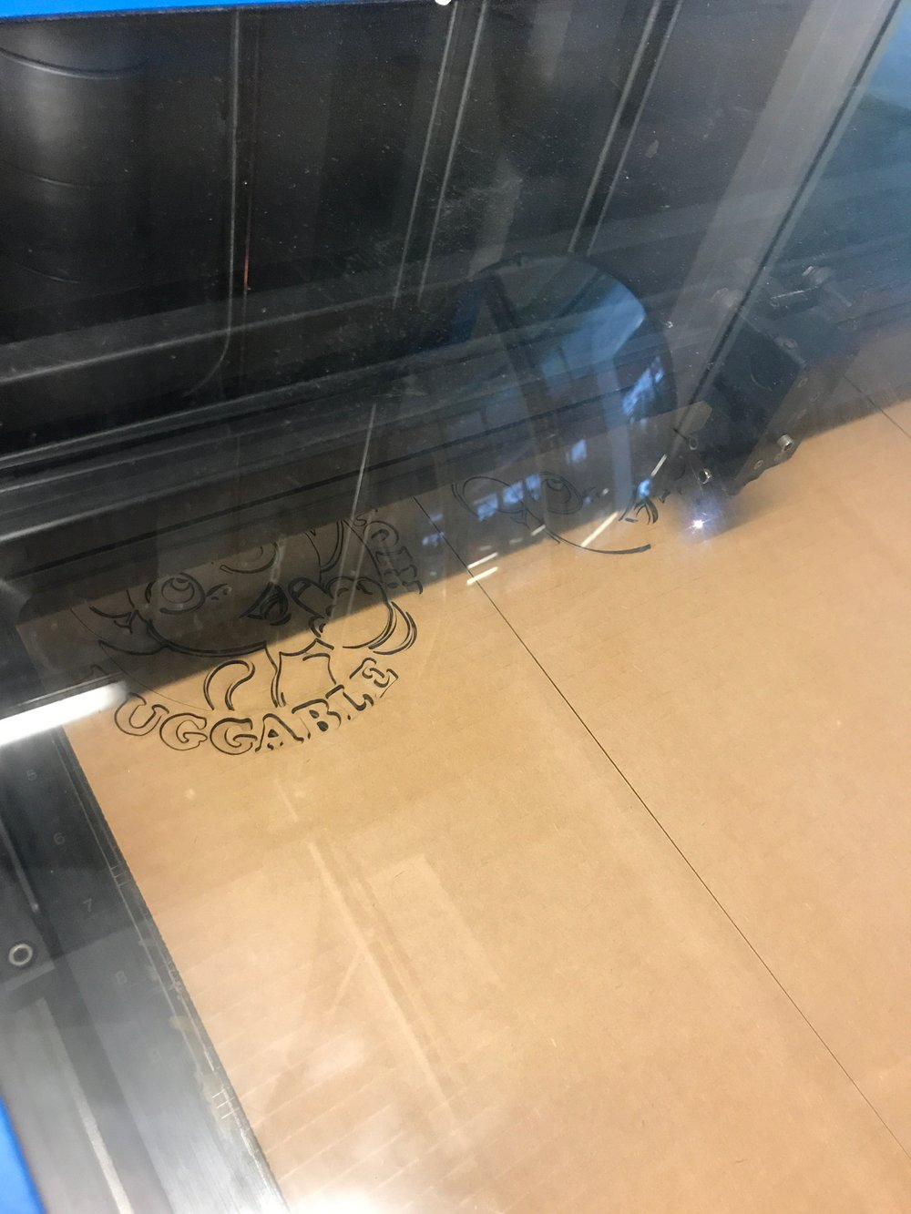 Using the laser cutter and plasma cutter.  Materials ranging from paper to 16G steel.