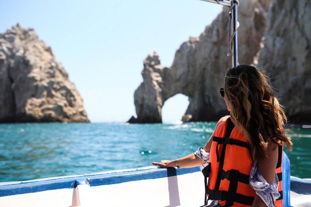 Water taxi to Cabo Arch