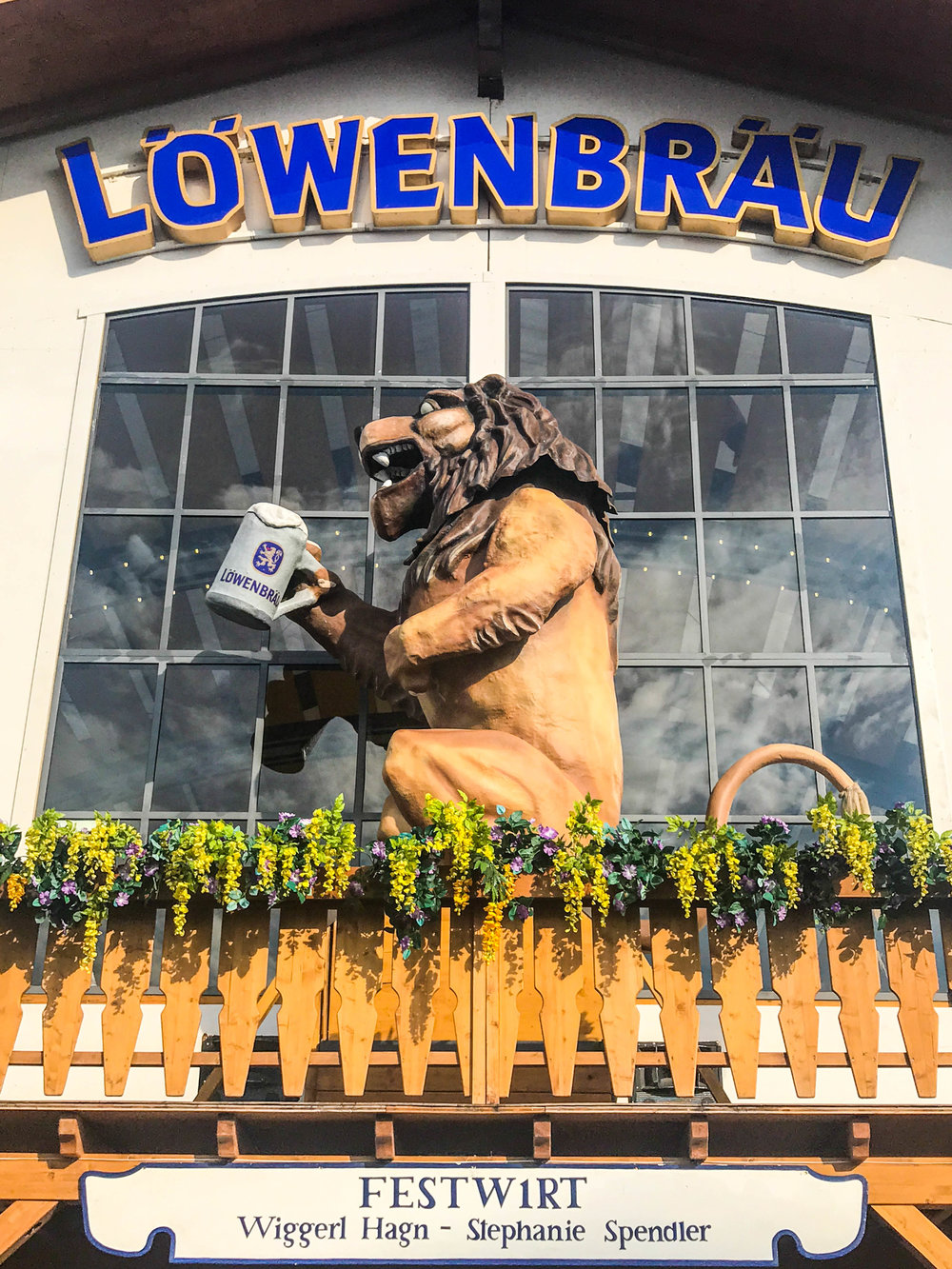 Outside Lowenbrau tent