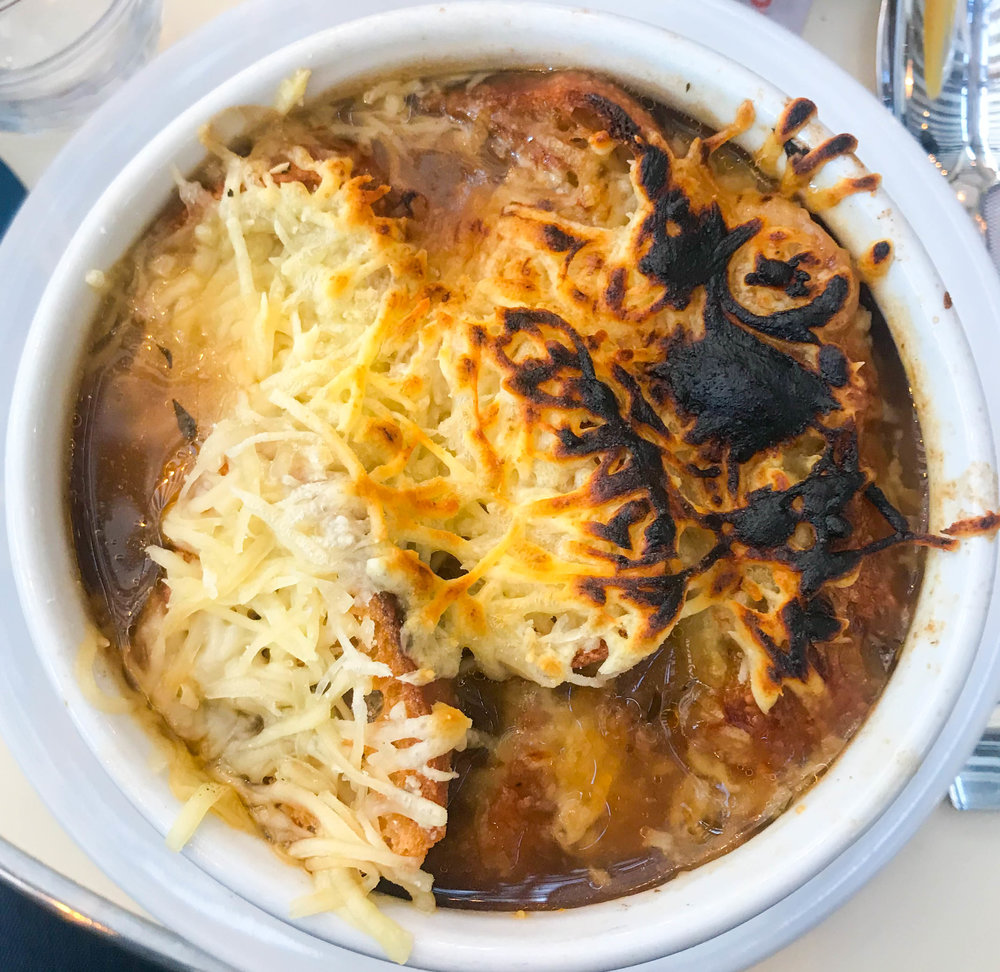 And of course, French onion soup