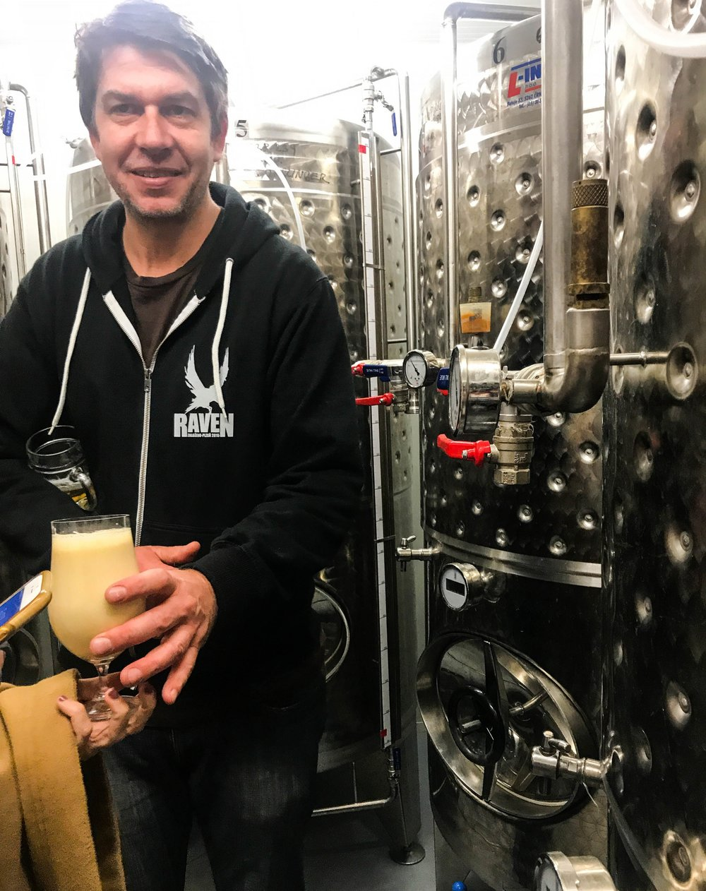 Mike, Raven's owner and Brewmaster