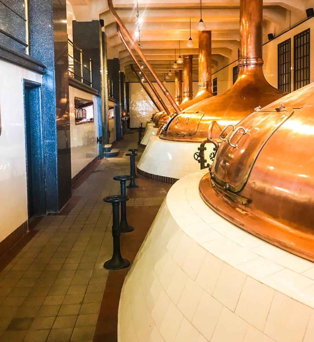Old beer vats