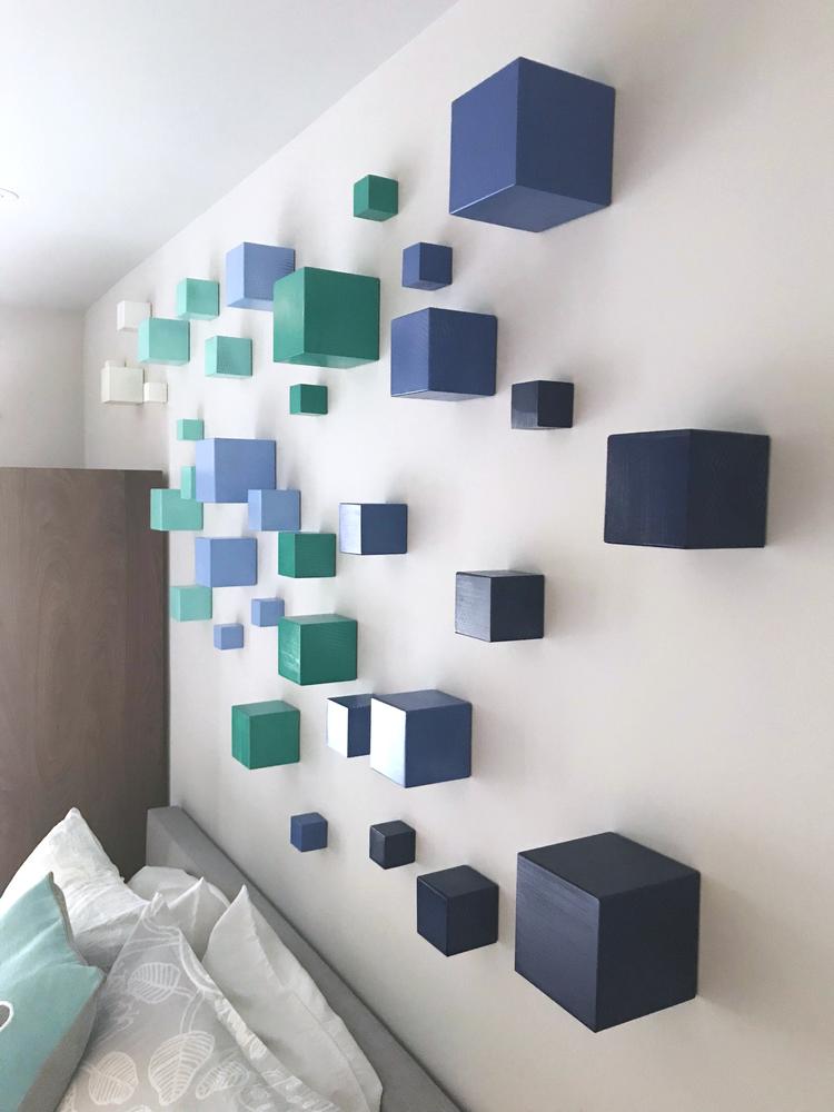 C3: CUMULUS CUBE CLOUD   Modern 3D wall sculpture installation ...