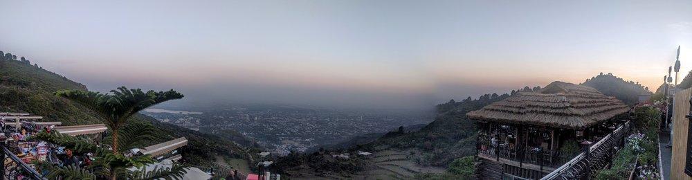Islamabad at dusk.
