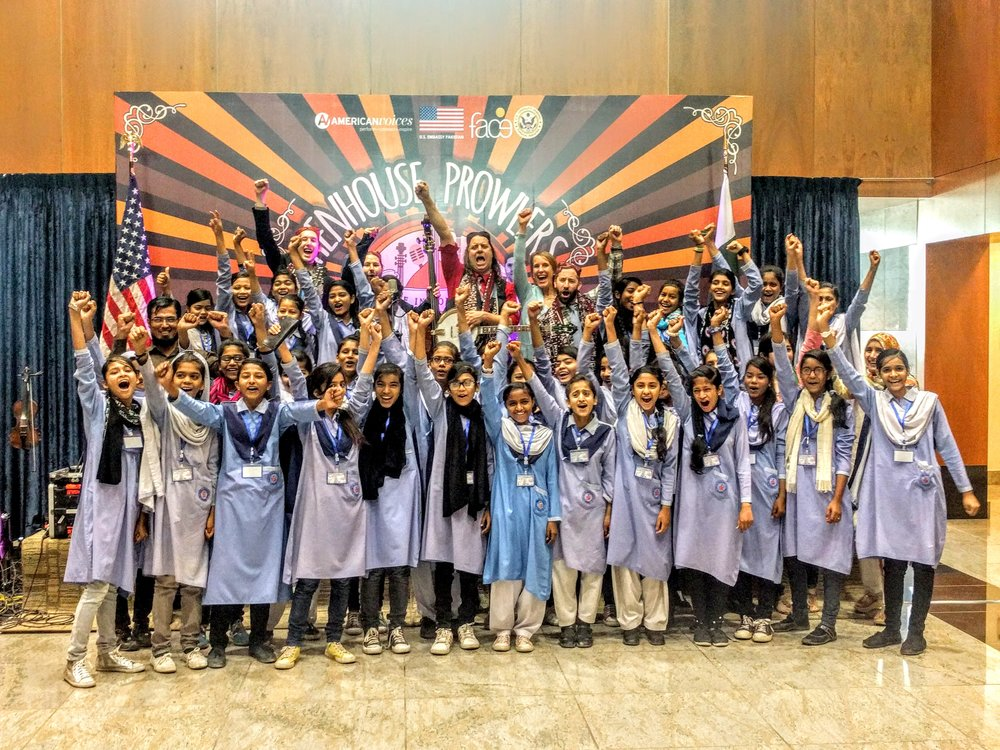 We did a workshop in Karachi with a young girls school and it was incredible!