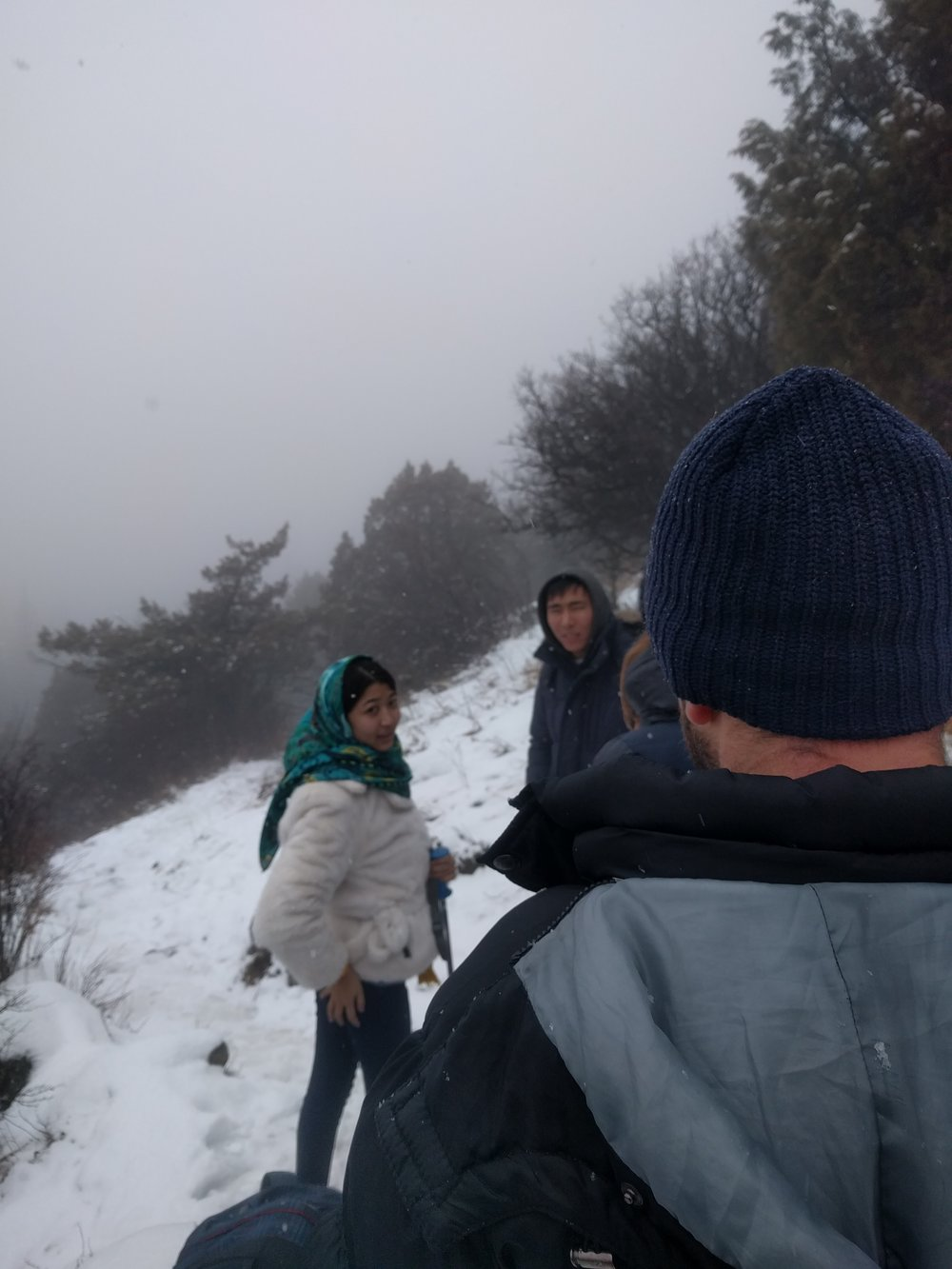 We ran into a young Kyrgyz couple on our way up.  They were sweet and clearly in love.