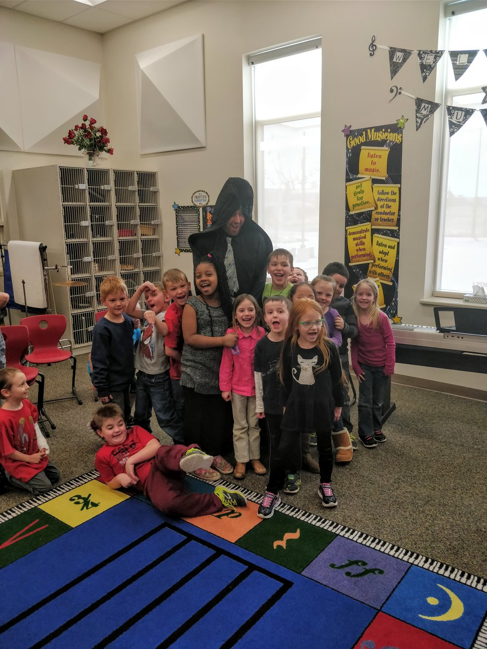 "A rare appearance of the ""Case Monster"" occurred with the kindergarten and first graders."