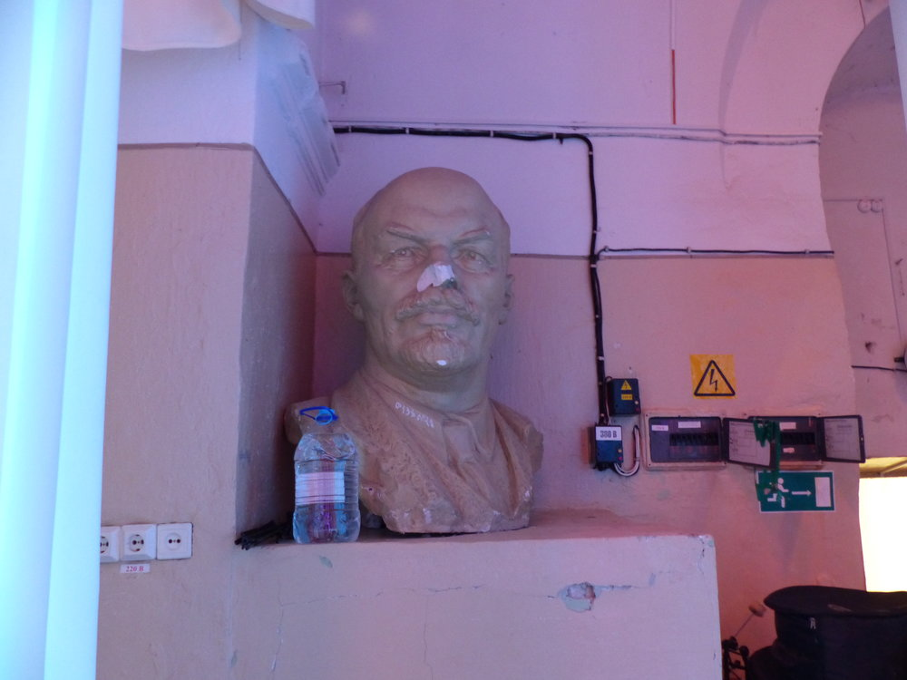 Russian iconography is EVERYWHERE there. I imagine Russians find statues of Lincoln and Mt. Rushmore just as strange as we did finding busts of Lenin. (This was backstage at a show,, fwiw.)