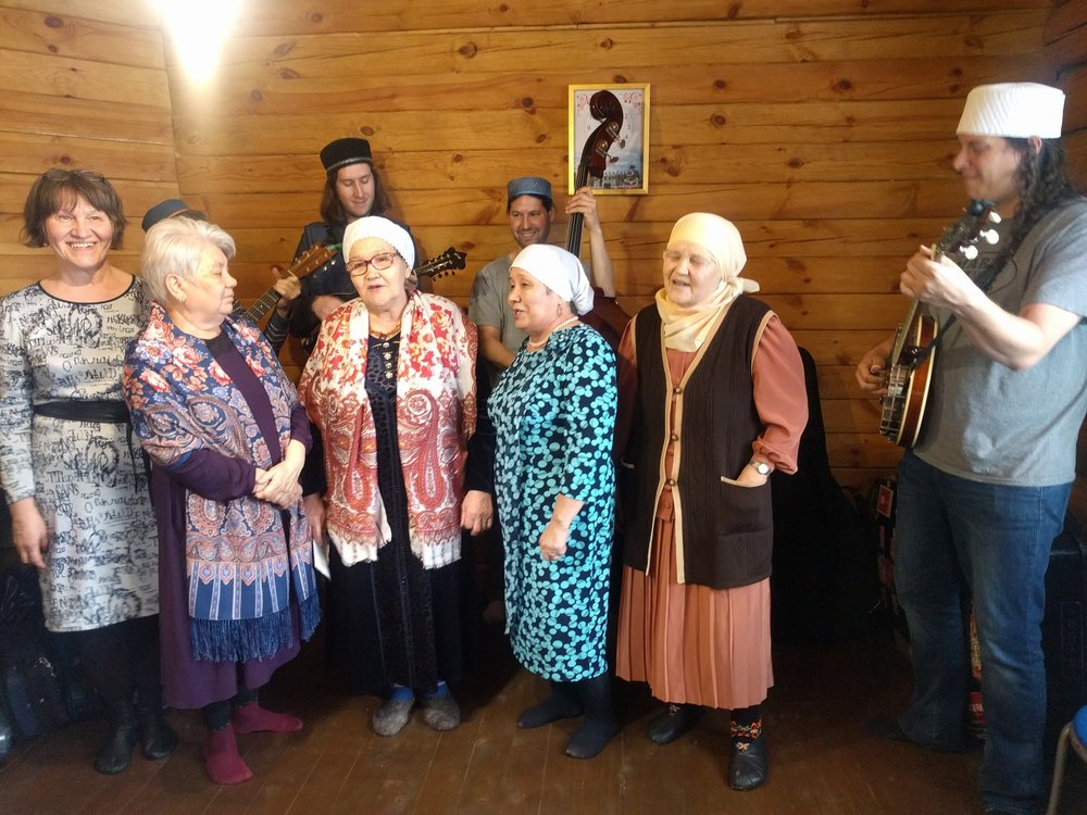 Singing with the babushkas on our second trip to Russia.