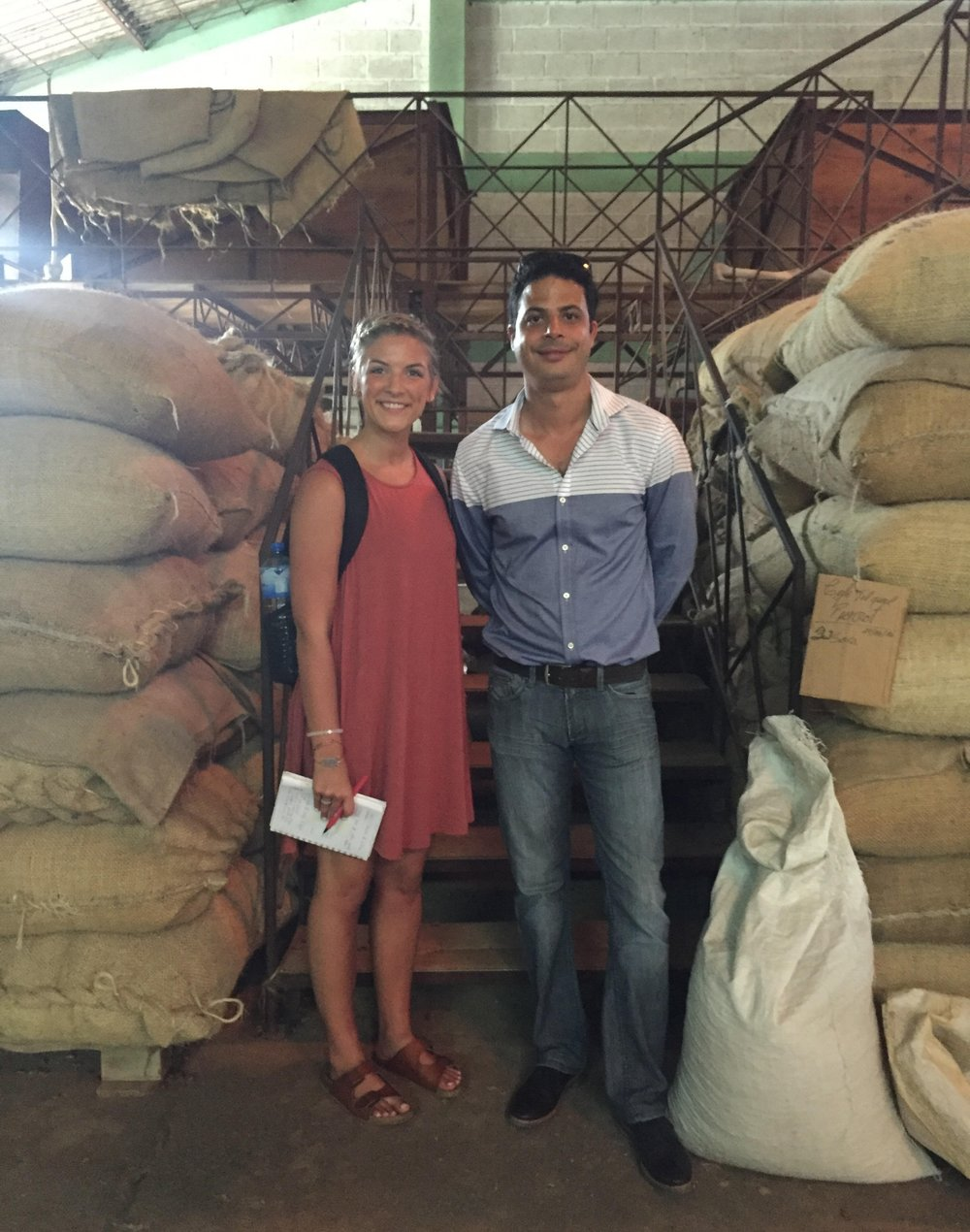 Douglas and I stopped for a picture while touring Selecto Coffee. This was my first trip to Haiti + Douglas was my first connection. Because of him, I was able to meet my farmers! 7/12/16