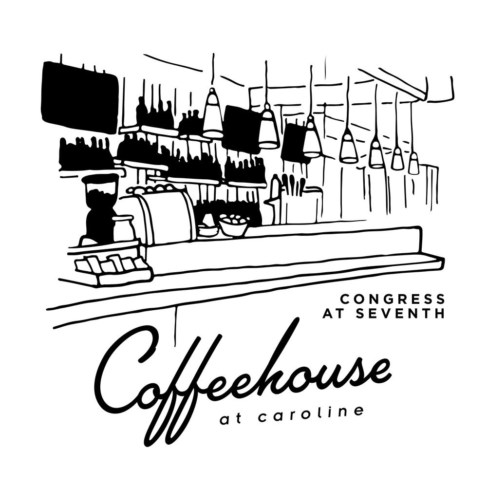 Coffeehouse at Caroline in Downtown Austin, TX.