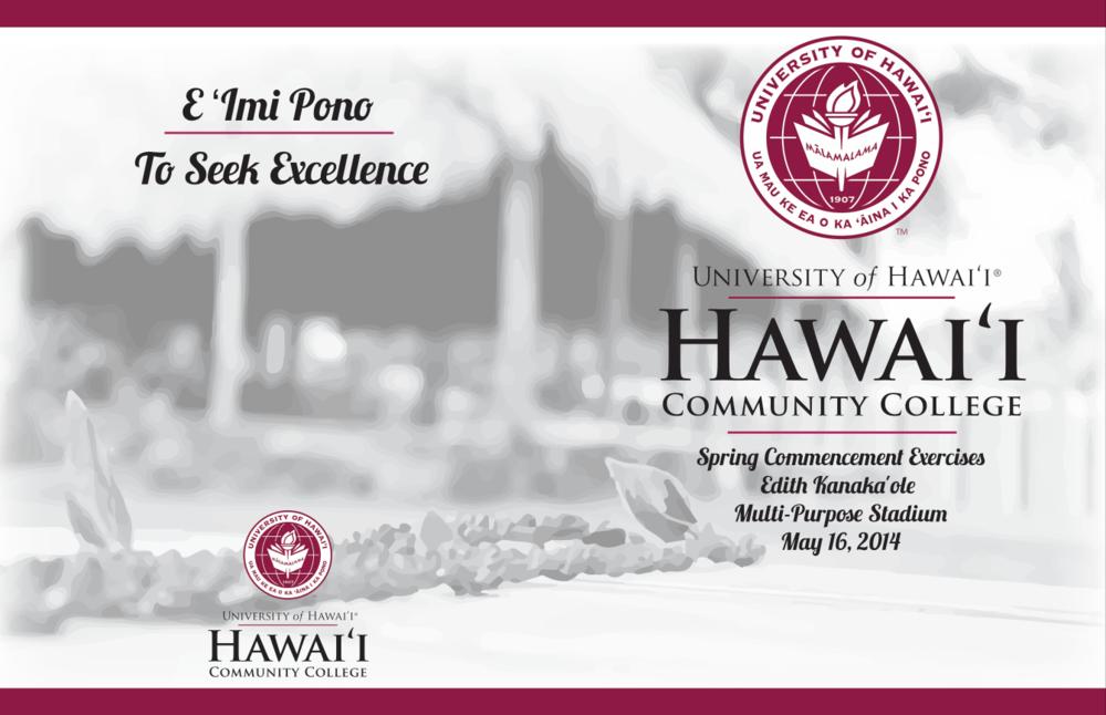 HCC Spring Commencement 2014 Program Design