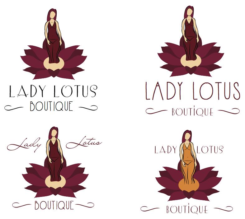 Lady Lotus Logo Variation Designs