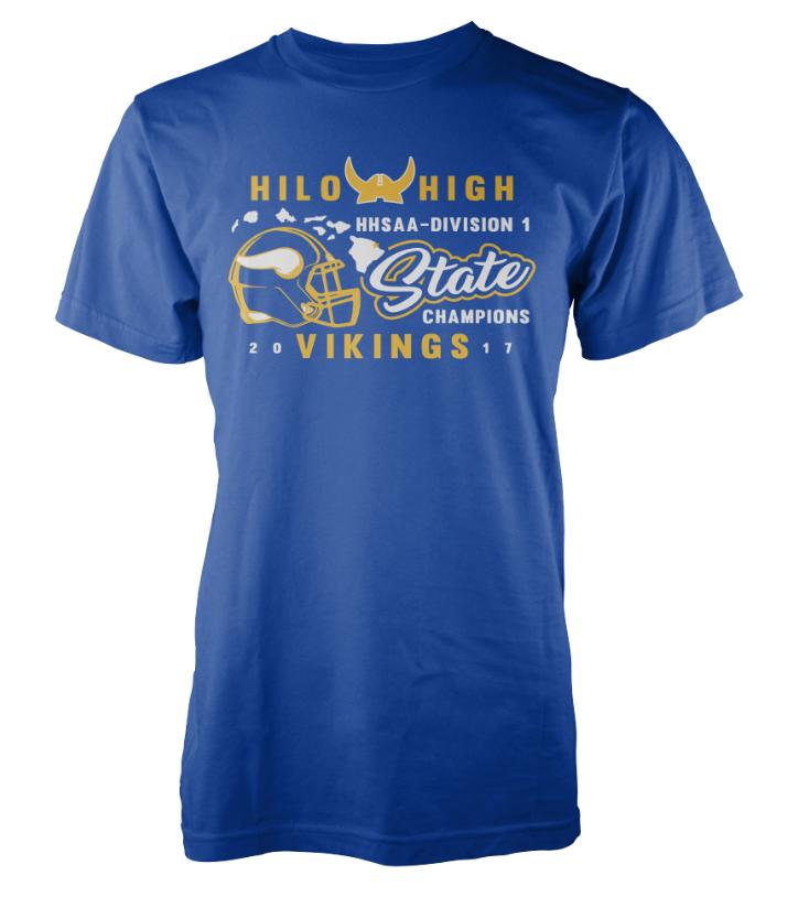 Hilo High School Football State Championship Shirts 2017
