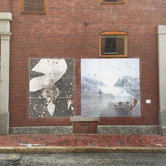 said goodbye to this #portlandmaine #chattermarkproject mural last week.  thank you #eastbrowncow @kindlingfund  @warholfoundation -and @bakeryphotocollective for helping to support this work! . . . #arctic #glacier #glacierice #mural #wheatpaste #temporaryart #publicart #photogram #alaska #calvingevent . . . @chattermarkproject is made possible with support from @space538 through the @kindlingfund thank you!