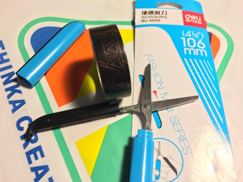 Deli folding scissors from Thinka Creative for Washi Tape