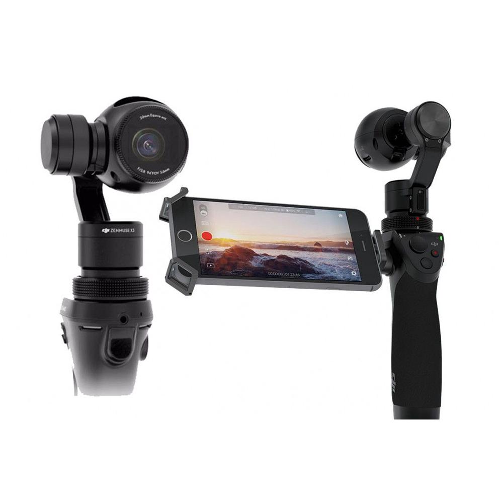 DJI Osmo Stabilizer - Cámara portable de 4K calidad (4096 x 2160) con 24 y 25 frames, 12MP imágenes en JPEG o RAW y estabilizador de video incluido. También Wi Fi incluido para conexión a un monitor.