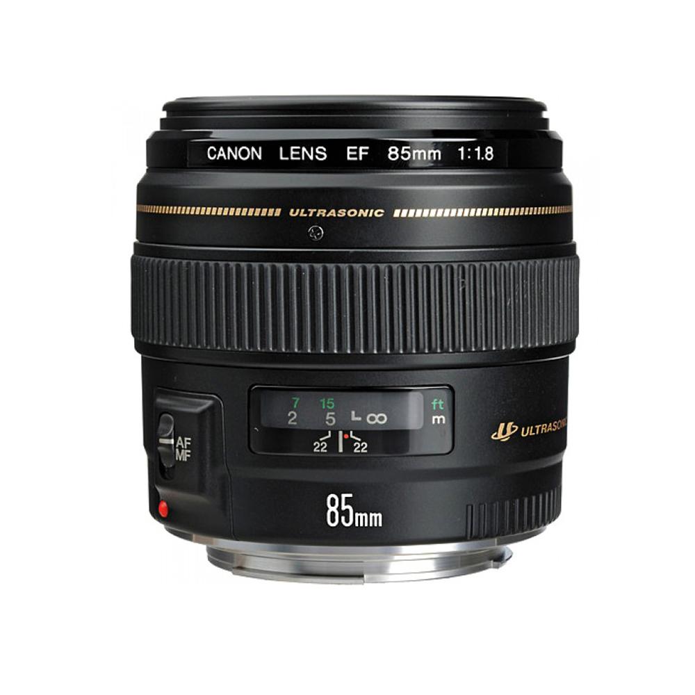 Lente Canon Linea dorada, 85 mm, 1.4 F - Lente EF mount, de apertura máxima 1.4 y motor de autofoco ultrasónico.Especial para fotografía de retrato.