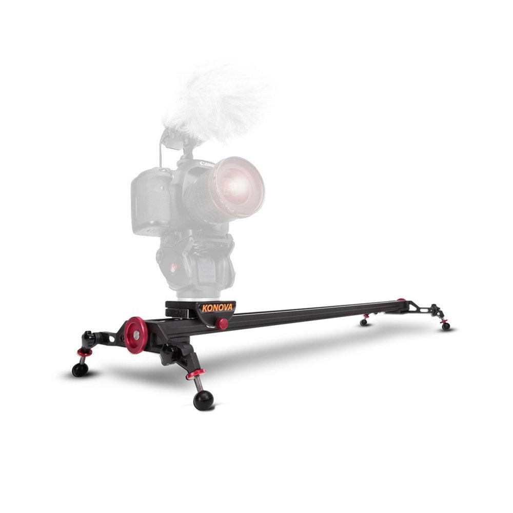 Konova Slider System - Trípode de 120 cm de largo para movimientos de video laterales y frontales. Incluye la cabeza de trípode