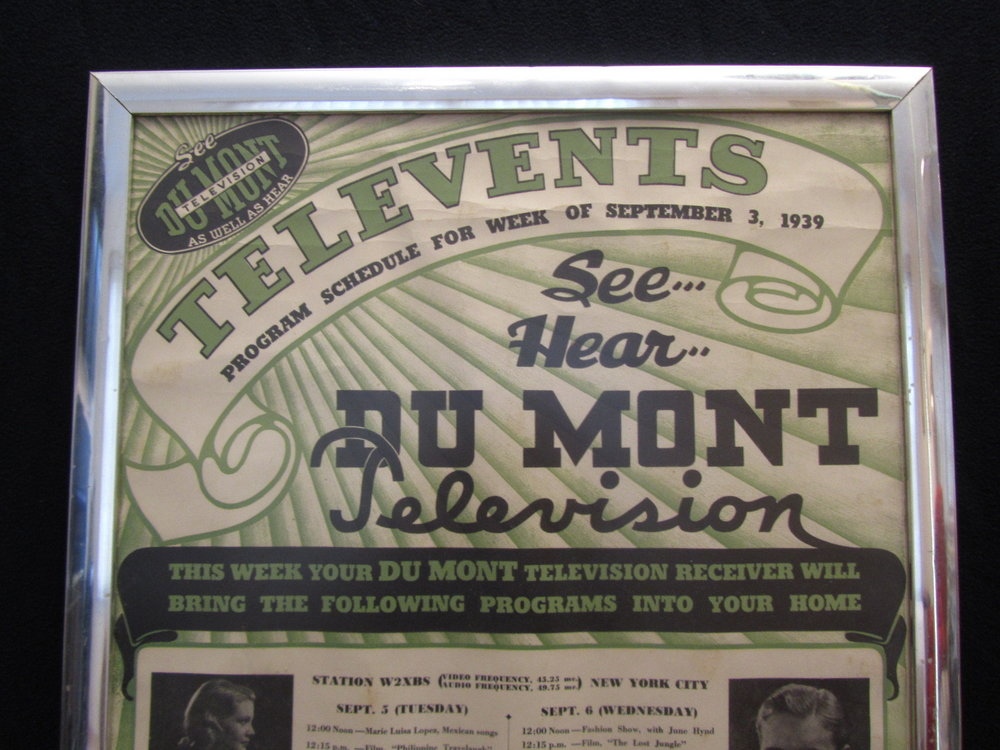 1938-Ad for Dumont's Television