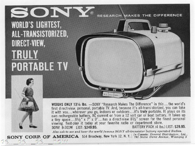 1960-First Sony Television