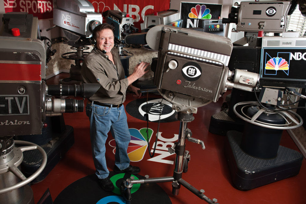 "Bobby Ellerbee and his twentieth Century broadcast television camera collection in the ""Eyes of a Generation"" museum in Georgia.  Check it out here:  http://eyesofageneration.com"