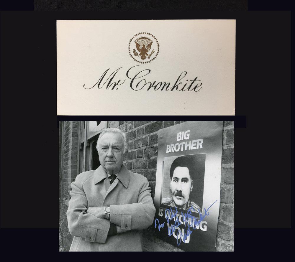 WALTER CRONKITE's CARD