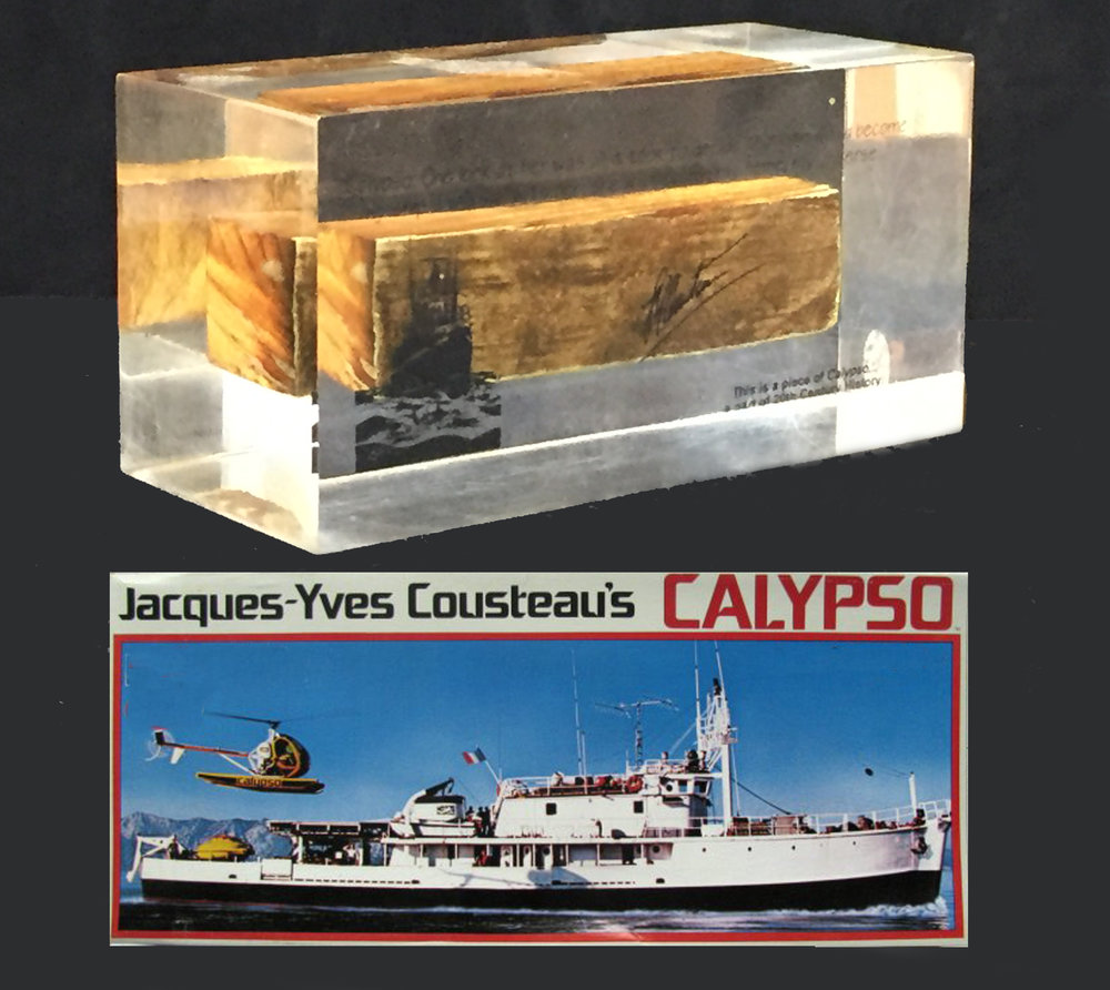 A piece of Cousteau's Boat