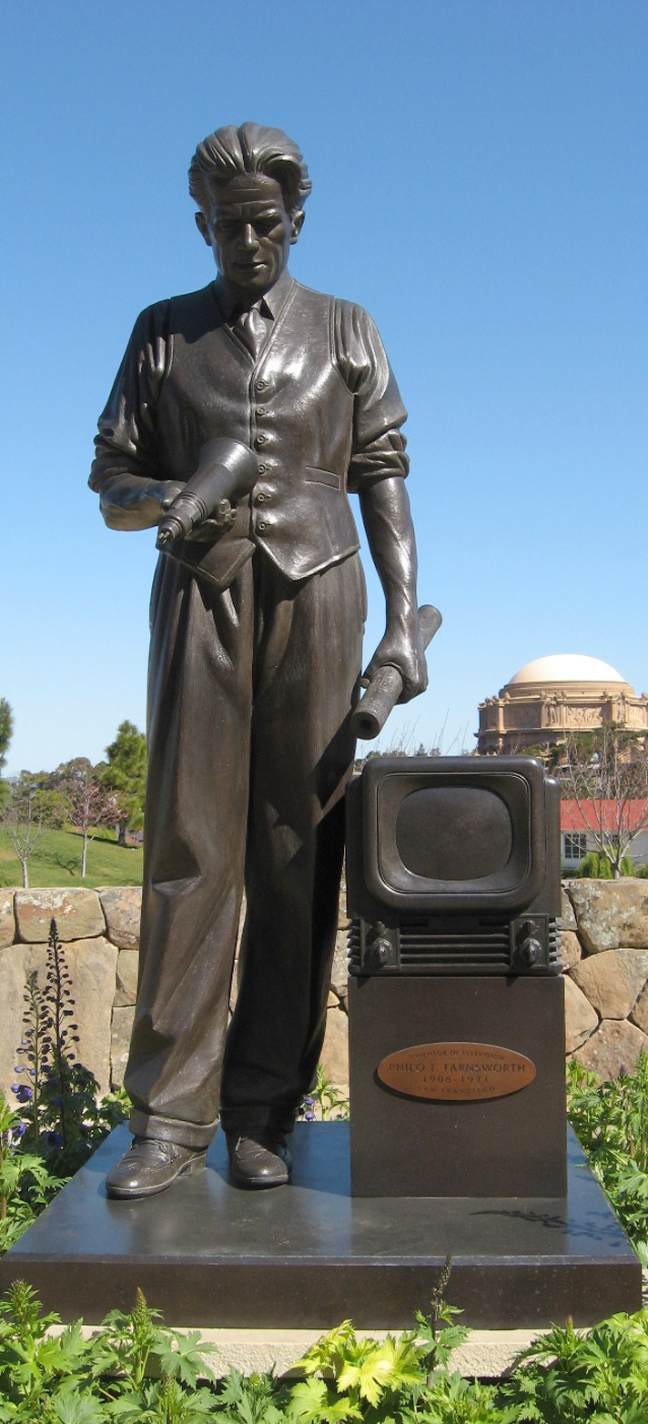 In March 2008, George Lucas had a statue of Farnsworth installed in front of the Letterman Digital Arts Center in San Francisco at the Presidio.