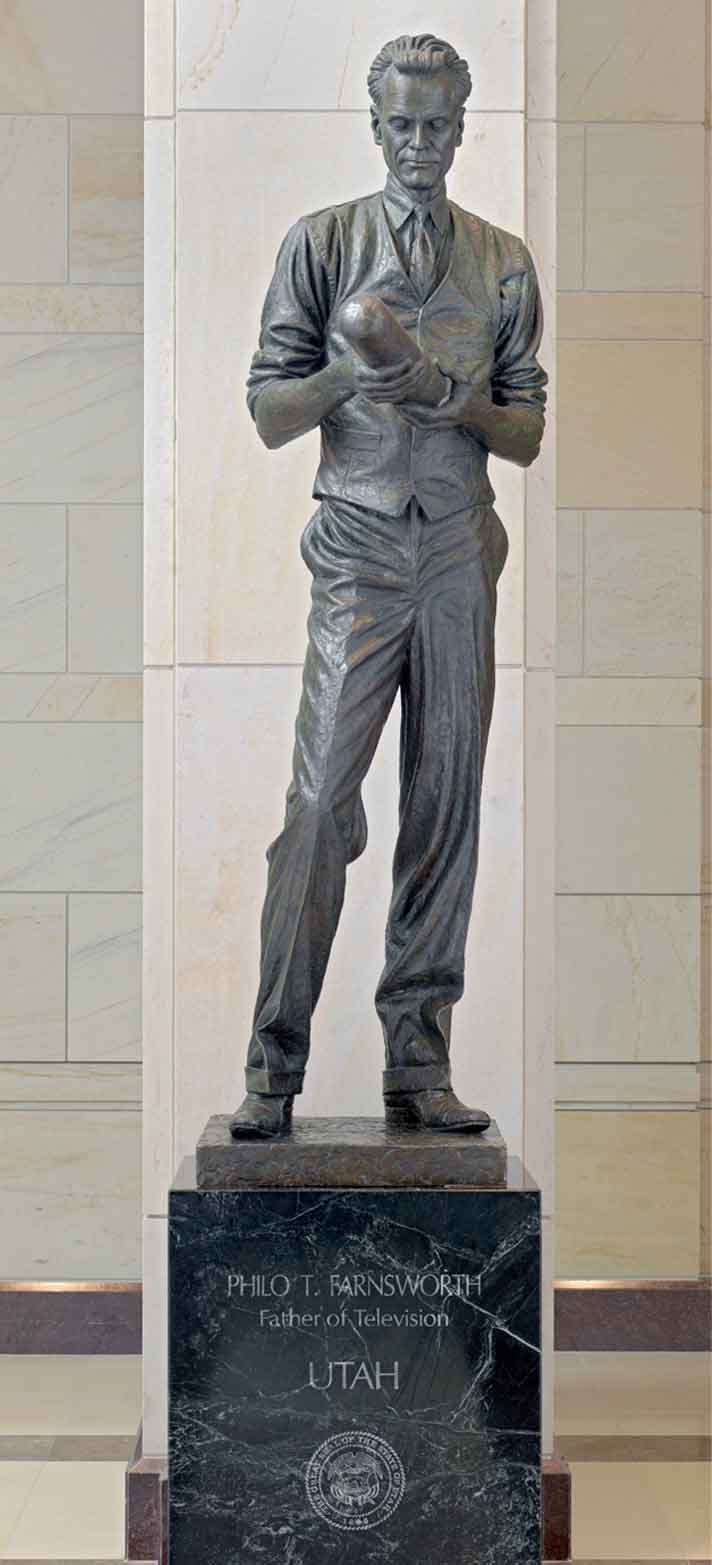 A bronze statue of Farnsworth represents Utah in the National Statuary Hall Collection, located in the U.S. Capitol building.