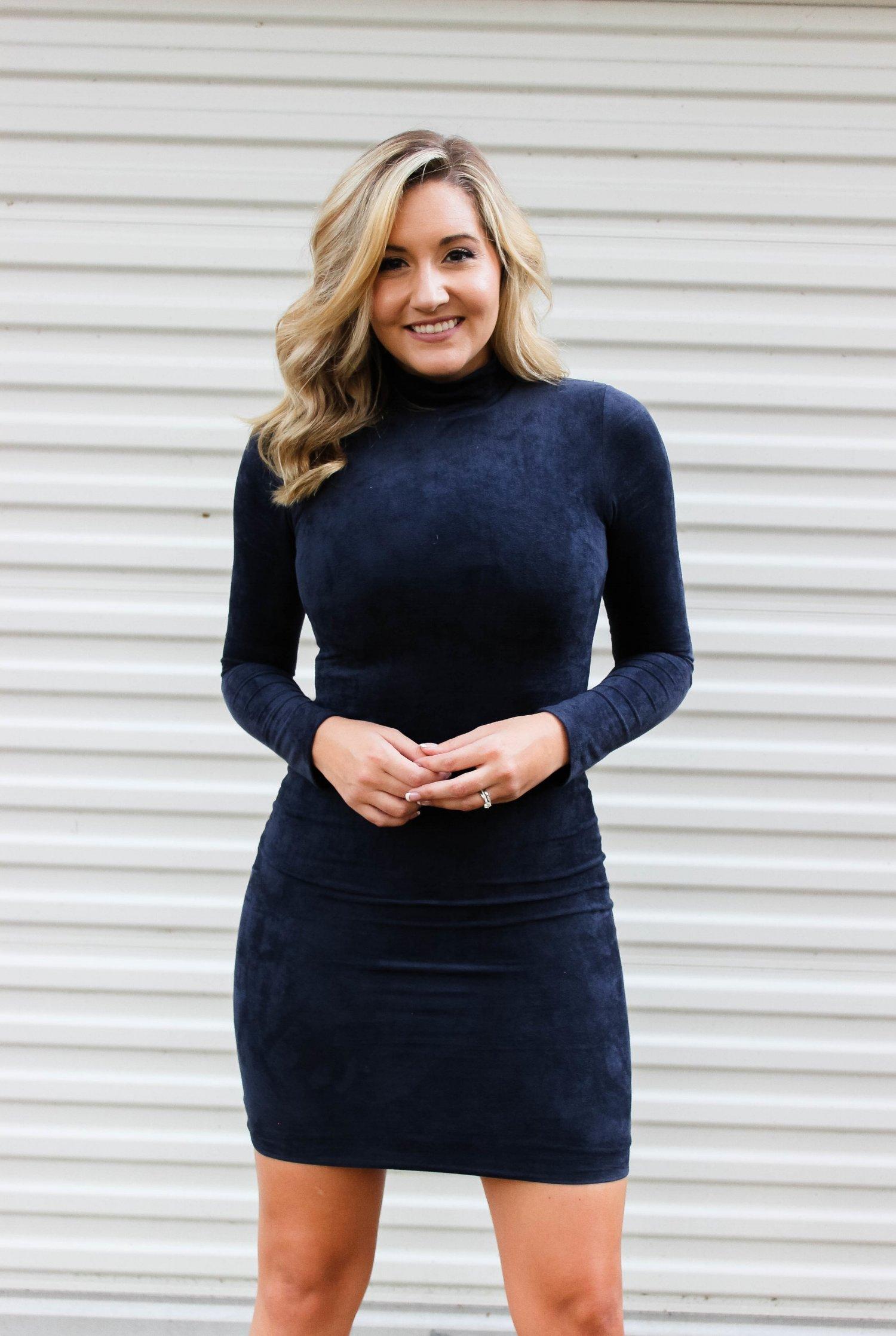 Navy Blue Dress — Dusty Wings