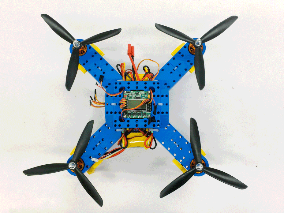 Our lego quadrotor designed to be modular for accessible and development purposes