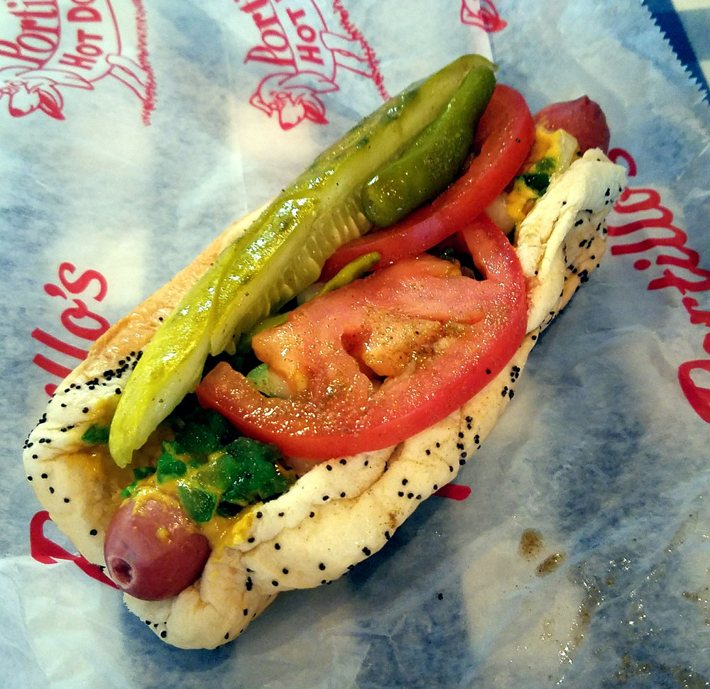 Perfect Pace - Chicago Marathon - Portillo's Chicago Dog.jpg
