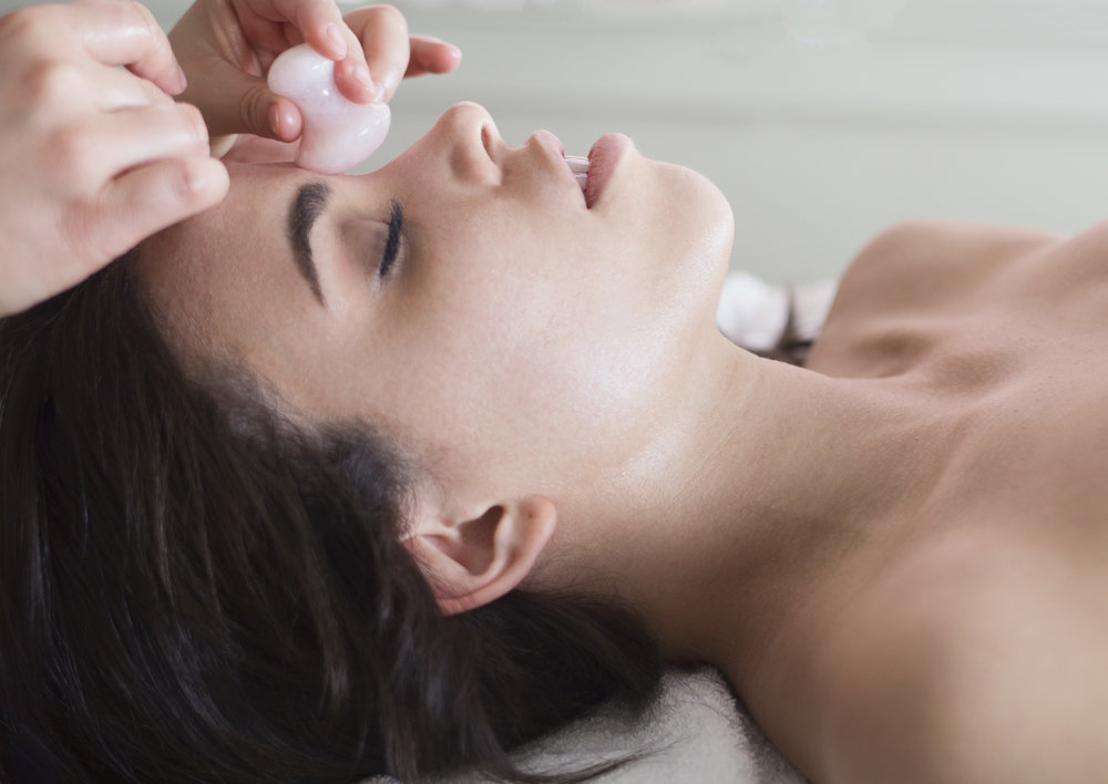 Ultimate Rose Quartz Facial - $109 | 90 minutesA luxurious customized facial that includes a double cleanse, exfoliation, and extractions followed by a nourishing rose quartz face massage. Rose quartz speaks directly to the heart chakra and is known for its loving energy, compassion, and connection to oneself and others. Healing rose quartz will work to reduce inflammation, promote the renewal of skin cells, and increase circulation to the skin.*This indulgent facial also includes an herbal eye treatment and high frequency to treat acne, reduce the appearance of fine lines, and rejuvenate tired, puffy eyes. The Ultimate Rose Quartz Facial will beautify your skin with love and happiness. *Contraindications may apply.
