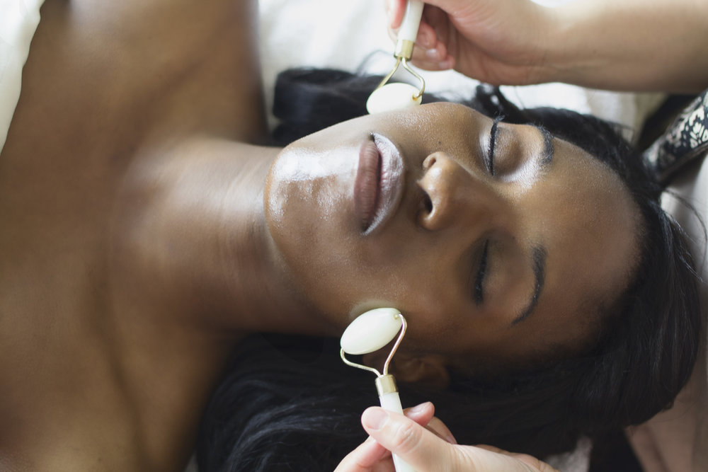 Advanced Facial - $89 | 75 minutesThe Advanced Facial includes a deeper exfoliation and an Eastern facial technique known as gua sha. Gently gliding a flat and round jade stone along the skin will relieve pain, stiffness, and flush out tissue to increase blood flow.Gua sha with jade stone's purifying and grounding properties is beneficial in combating dryness and breakouts, while helping to improve skin tone and promote anti-aging.