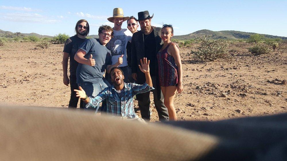 Cowboy, Crew and Desert.
