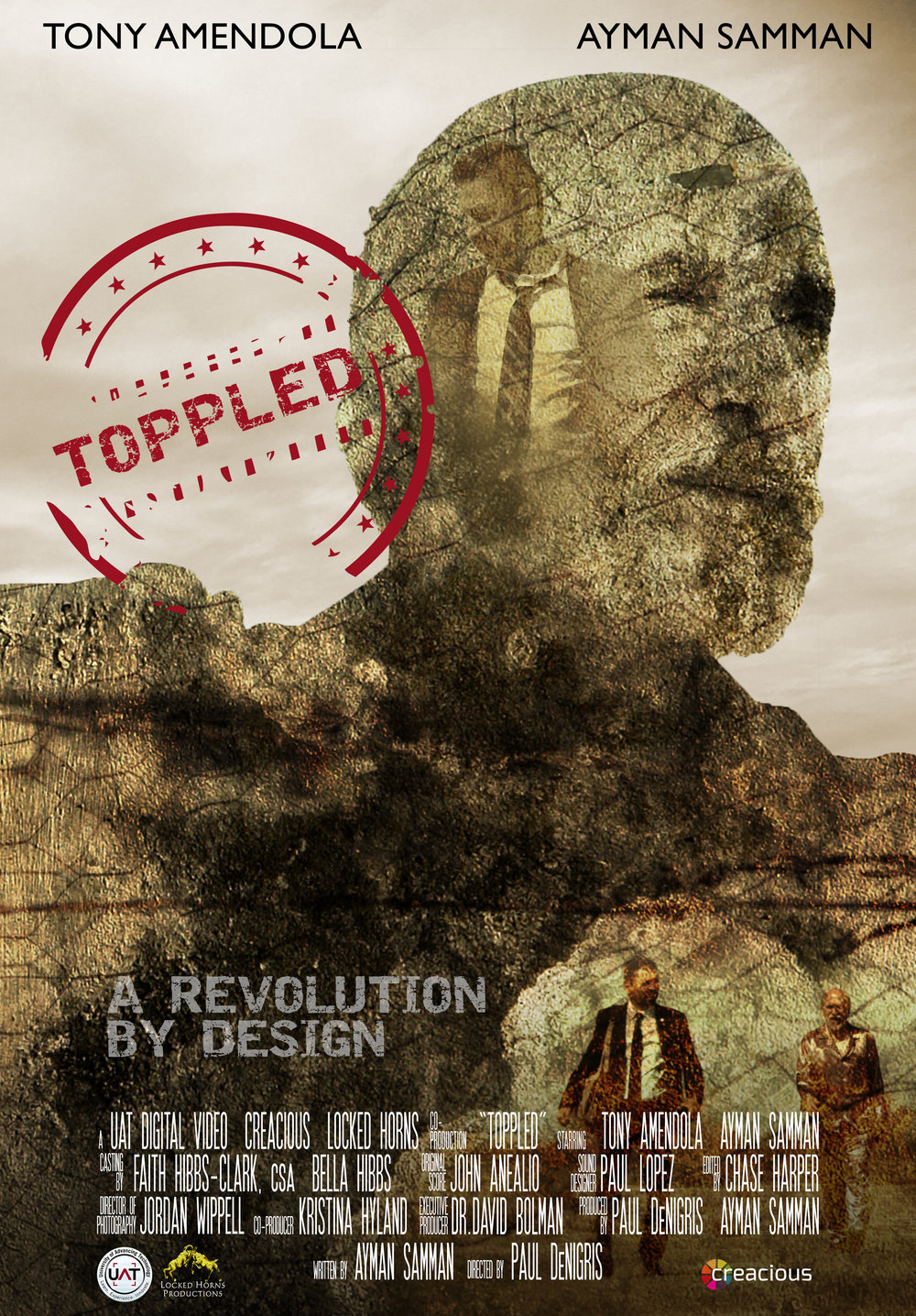 Toppled (2016) - An official selection for the Phoenix Film Festival(2017), Toppled stars Film and Television star Tony Amendola and Ayman Samman and is directed by former Arizona Filmmaker of the Year,Paul DeNigris.