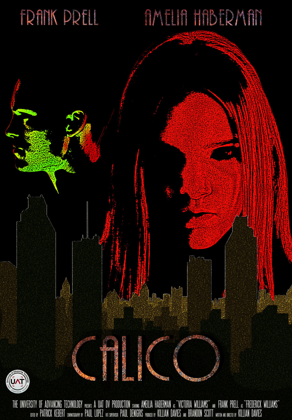 Calico (2016) - Official selection of Gencon 2017 Film Festival, Calico is a short film by then student director Killian Davies and stars Frank Prell and rising star Amelia Haberman.