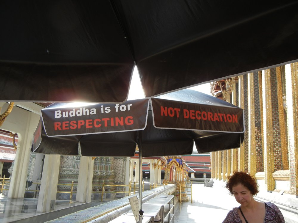 Buddha is for Respecting... Not Decoration