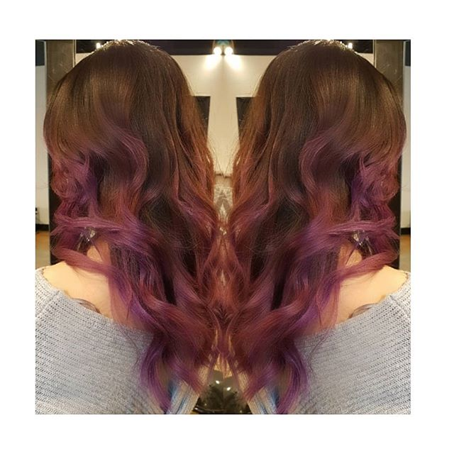 Sweeter than grapes 🍇. . . . Cut by Daniela Colour by Richard B assisted by Brooke F #vancouver #yvr #hairinspo #purplehair #grapes #purple #longhair #hairlove #vancouverstylist