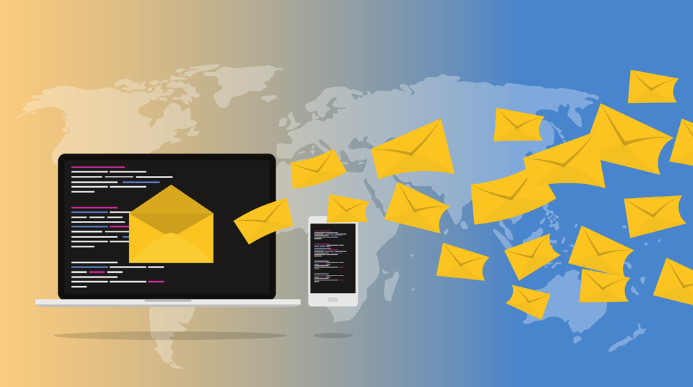Email is not secure because there are many steps between you sending your email and your recipient receiving your email.