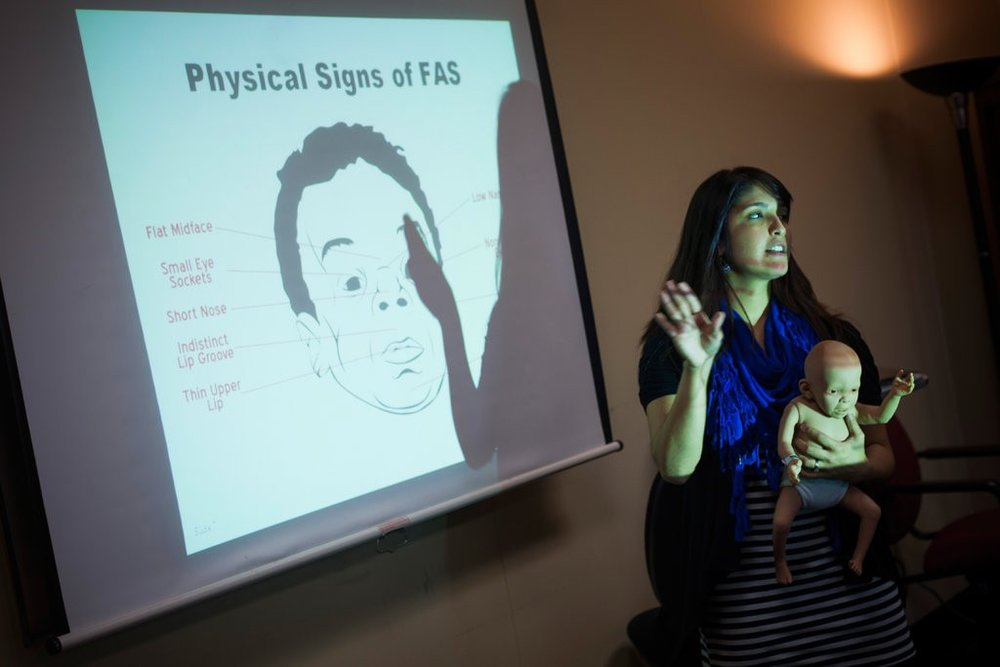 A program in Waco, Tex., teaches the effects of alcohol on pregnancy. Credit Brandon Thibodeaux for The New York Times