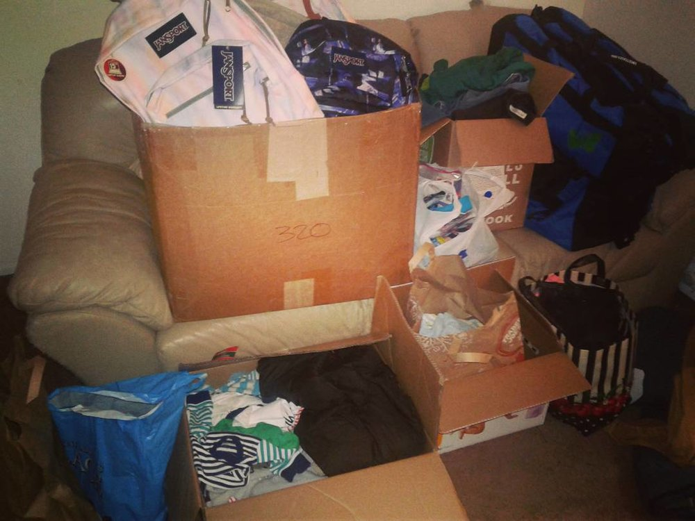 Just SOME of the donations!