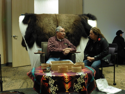Meeting with Aboriginal community members was a highlight of Williams' trip.  Photo courtesy of Dorothy Badry