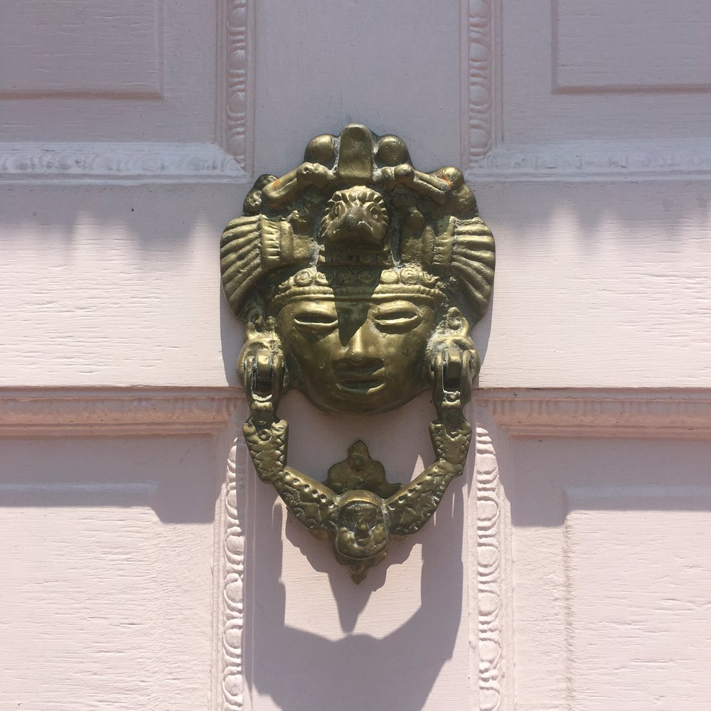 Fabulous door knocker discovered on a weekend wander in Dallas.  Photo by Chic Travels.
