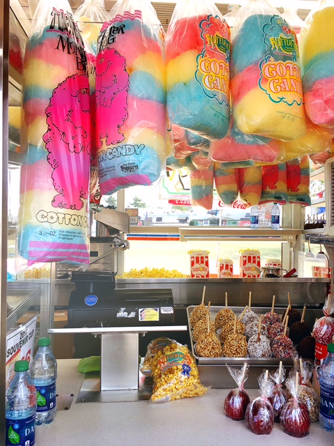 Cotton candy and other goodies.  Photo by Chic Travels.